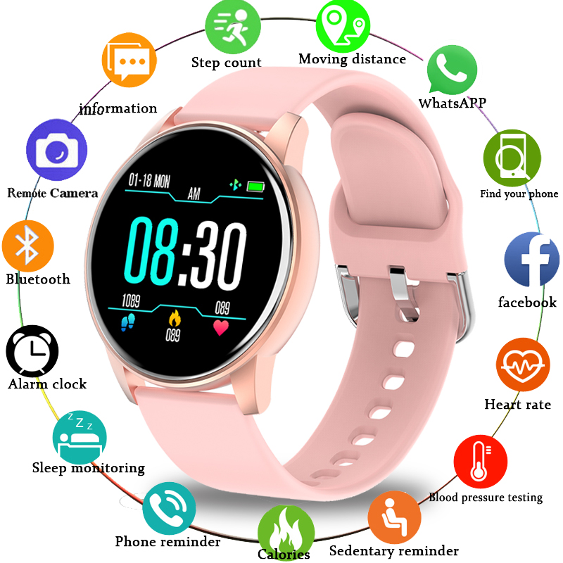 LIGE 2020 New Smart Watch Women Heart Rate Blood Pressure Multifunction Ladies Smartwatch Men Fitness Tracker For Android IOS