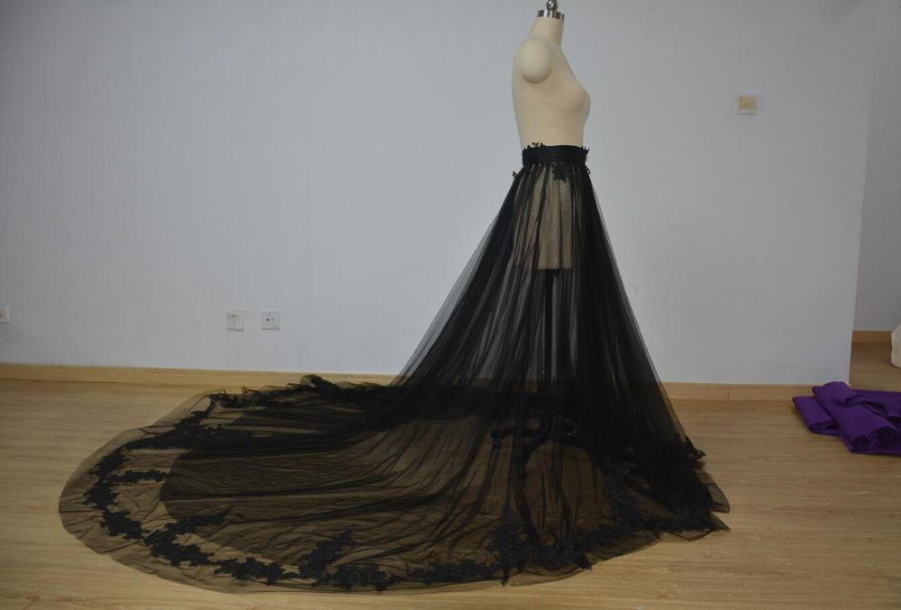 Black Sheer Lace Tulle Overskirt Black Tulle Skirt/ White Bridal Skirt / Tulle Wedding Skirt / RED Wedding Skirt / Blue Skirt