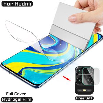 Folia hydrożelowa do Xiaomi Redmi Note 10 9 8 Pro 9S 7 S T folia ochronna na 8T K30 Ultra 9A 9C 8A 7A 10X K20 Max 128GB nie szkło tanie i dobre opinie VickRubie Przezroczysty FOLIA HD CN (pochodzenie) Folia na przód Transparent 0 1mm Explotion-Proof Eday to insyall Ultra-thin