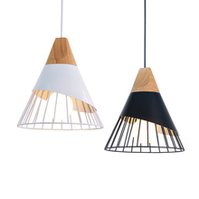 Wood LED Pendant Light Bedroom Living Room Decoration Hang lamp Restaurant Kitchen 90-260v Indoor lighting Hanging Light Fixture
