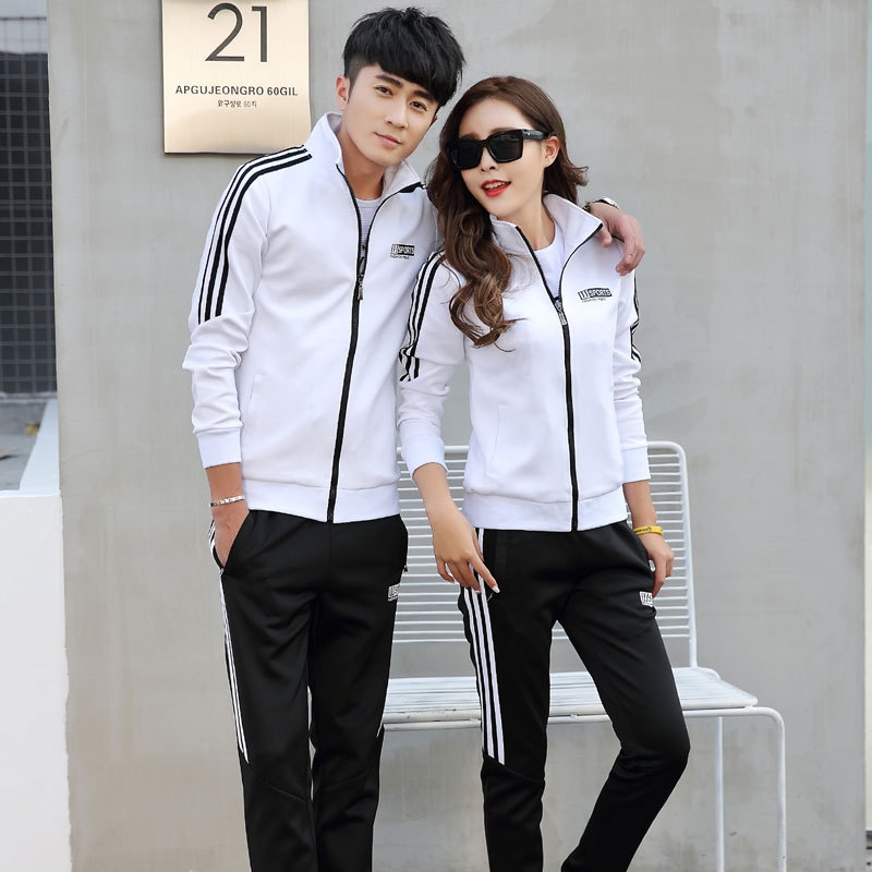 Spring And Autumn Long Sleeve Sports Set School Uniform Men's Running Sports Clothing Korean-style Fashion Lovers Leisure Suit