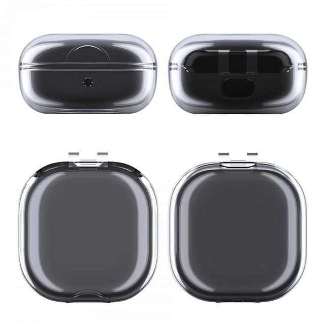 Funda protectora de auriculares para Samsung Galaxy, auriculares en vivo, funda protectora transparente de TPU para auriculares, funda transparente para auriculares