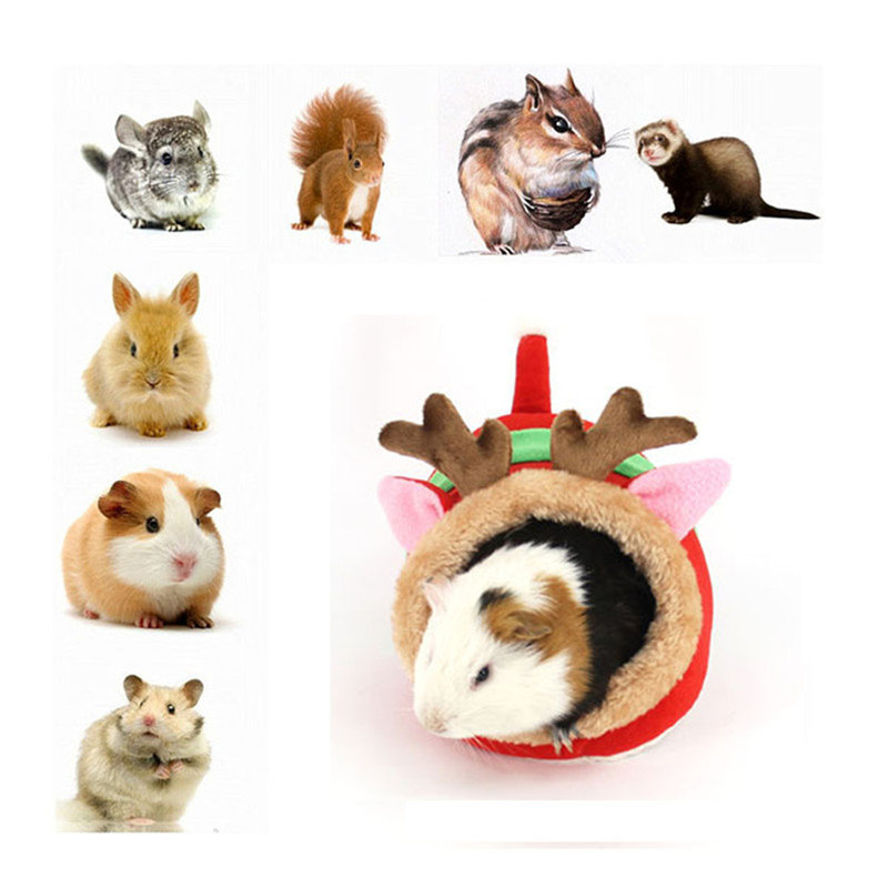 Mini Shoes Shape Small Pet Rat Hamster Cage Brown Red Pink Comfortable Guinea Pig Cell Bed For Hedgehog Cages Cute Nest
