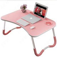 Brief small computer desk on bed laptop stand foldable table dorm folding computer holder bed laptop bed table desk shelf