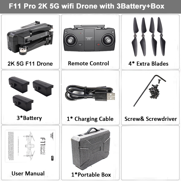 LAUMOX SJRC F11 Pro GPS Drone with 2K Camera 5G Wifi FPV Brushless Quadcopter 28mins Flight Time Foldable RC Drone VS SG906 B4W