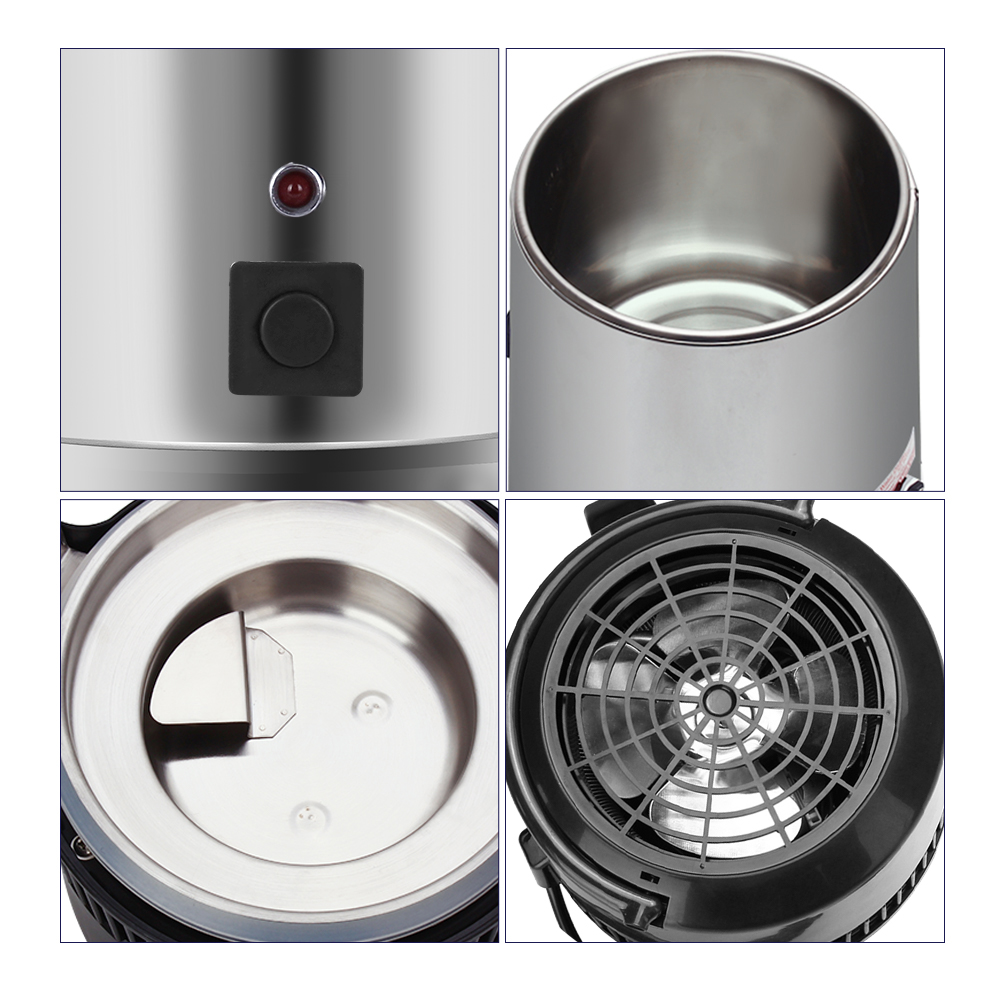 4L Water Distiller Distilled Water Machine Distillation Purifier Filter Stainless Steel Technology Water Jar Carbon Filter