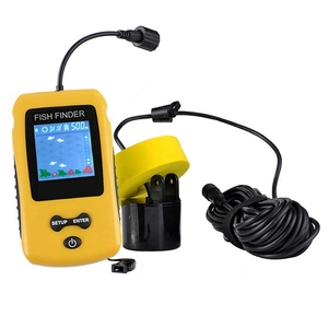 Portable Sonar Fish Finder With Coloured Lcd Display Screen Fish Finder Fishing Lure Echo Sounder Fishfinder(China)