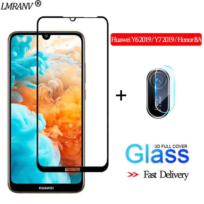 2-in-1 Camera Glass For Huawei Y62019 3D Protective Glass Huawei Y72019 Screen Protector Honor-8-A Tempered Glass Huawei Y6 2019
