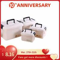 Multifunctonal Lagerung Box First Aid Kit Organizer mit Griff Tragbare Kits PP Kunststoff Medikament für Haushalt