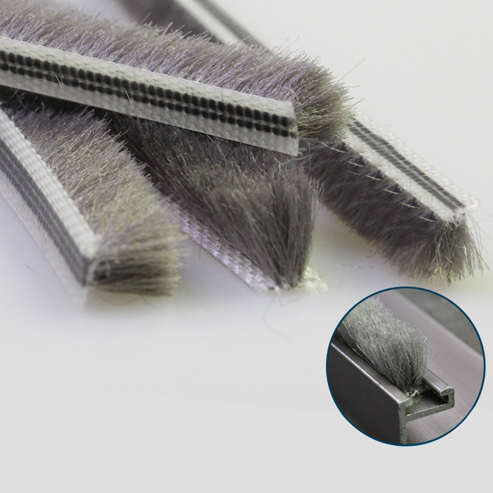 10m Self Adhesive Brush Strip Windproof Sealing Weatherstrip Dust Pile Sliding Home Door Window Sound Insulation Sealing Strips