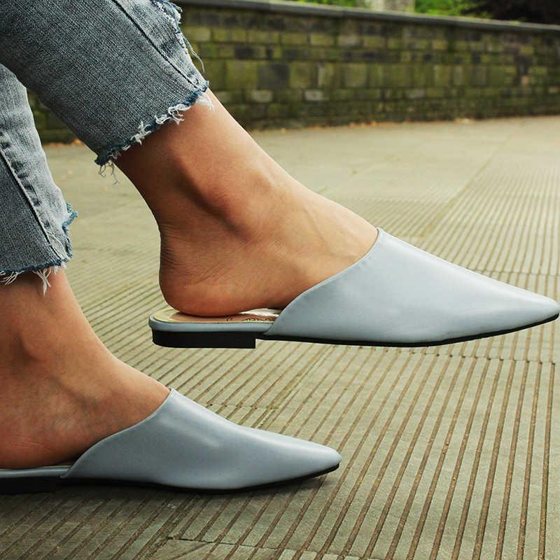 Summer Flats Mules Lady Sandals
