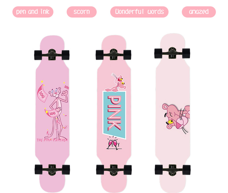Ardea skate longboard 107cm 42in adultos adolescentes