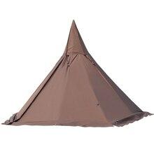 4, 5, 6 человек пятиугольная Пирамида Фламинго вигвама Укрытие палатки автомобиля палатка туристический тент вечерние беседки Открытый Кемпинг армии помощи палатки