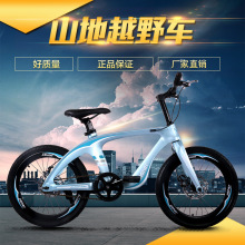 2020 New Magnesium Alloy Bicycle 20-Inch Mountain Bike Double Disc Brake Single Speed Middle School Student Pedal Bicycle bike