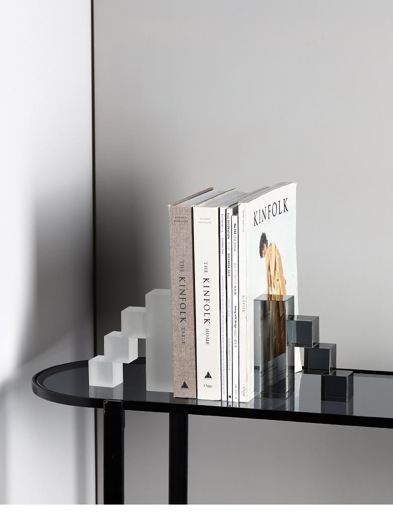 Geometrische Crystal Boekensteunen Decoraties Eenvoudige Ladder Kantoor Studie Decoraties Voor Huis Decoratie Accessoires Voor Woonkamer Figuren Miniaturen Aliexpress