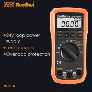 RuoShui 71B (victor VC71B) DC V/mA термопары K/E/J/T/B/R/S/N генератор сигналов цифровой мультиметр источник симулятор 24 В петля