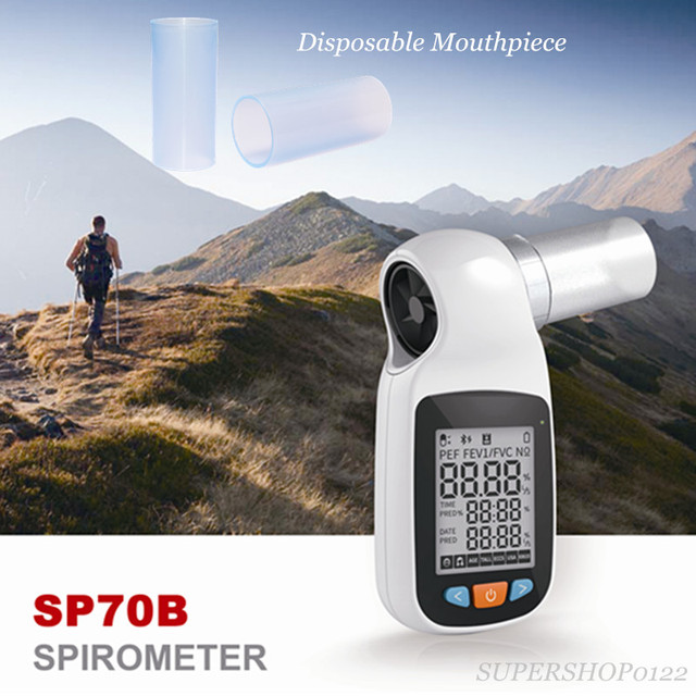 CONTEC SP70B with 1 units mouthpiece Digital Lung Volume device Spirometer Pulmonary Function free shipping