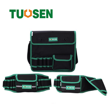 Multi-pockets waist working belt tool bag electrician tools work backpack storage spanner utility screwdriver pouch oxford clot laoa shoulders backpack tool bag multiction oxford fabric electrician bags knapsack for eletricista tools storage
