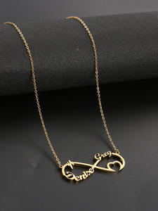 Necklace Personalized Custom Nameplate Stainless-Steel Jewelry Pendant Men Choker Gold-Name