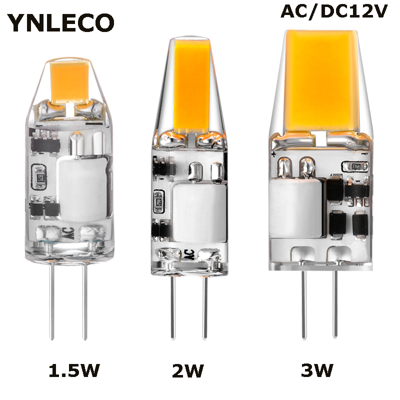 1.5W 2W 3W G4 LED 12V AC DC COB LED G4 Bulb Light Bulbs 360 Beam Angle Lampada Lampara Ampul Replace 15W 20W 30W Halogen Lamp