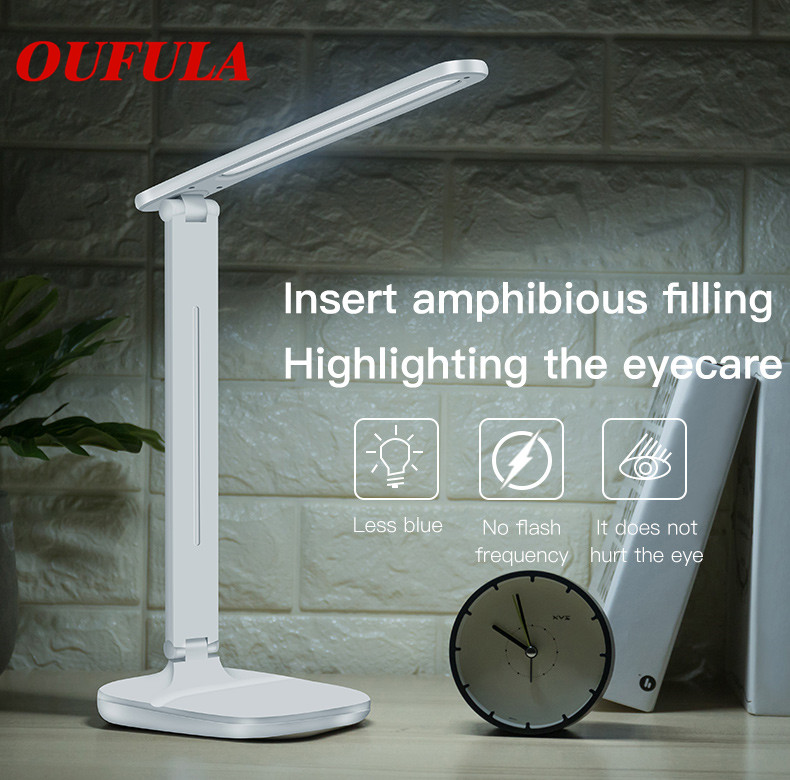 USB Rechargeable LED Desk Lights Lamp Eye Protection Foldable 180 Degree Rotated Reading Touch Sensor Control For Children