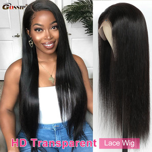 HD Transparent Lace Wigs Glueless Straight Lace Front Wig Gossip Human Hair Wigs For Black Women 13x4x1 Lace T Part Wig Remy Wig
