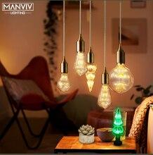 Nordic Pendant Lights Vintage loft hanging Lamp E27 Living Room Kitchen Restaurant Bar Home Loft Industrial Decor Lighting