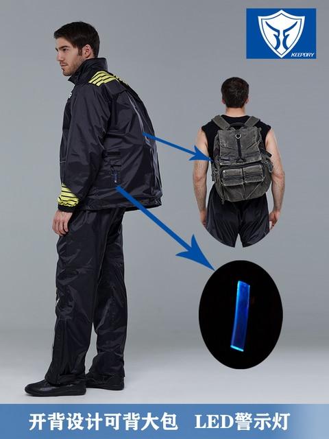 Motorcycle Raincoat Rain Pants Suit Male Rain Coat Thick Waterproof Outdoor  Rain Jacket Climbing Hiking Impermeable Gift Ideas 3