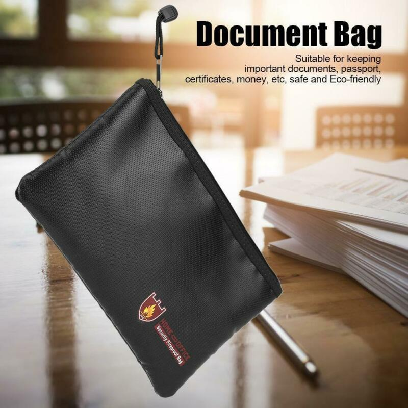 Fireproof Waterproof Money Safe Cash Box Secret Document Bag File Pouch Case