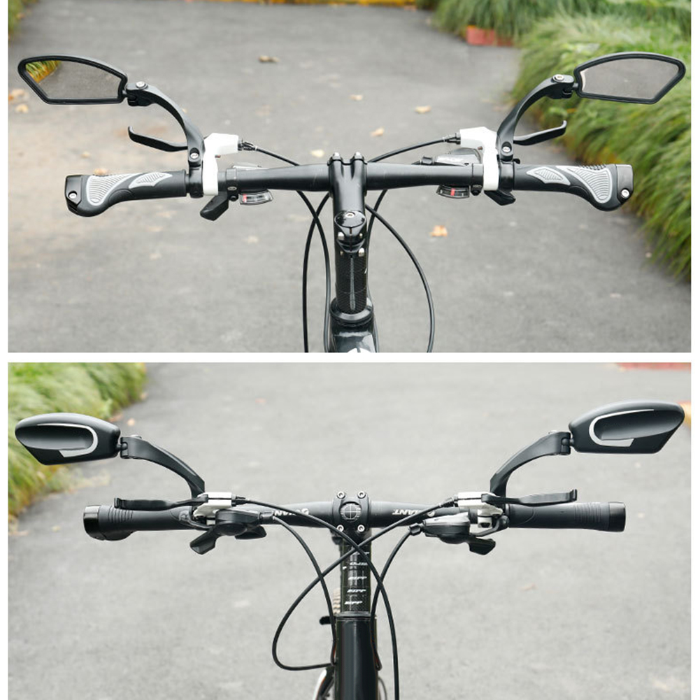 Single Sided Stainless Steel Bike Rearview Mirror Foldable Bicycle Accessories For Outdoor Mountain Biking