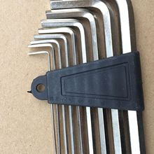 Factory sell directly Nickel plated set of Allen wrench 9 sets Flat head L-shaped high strength hexagon tool