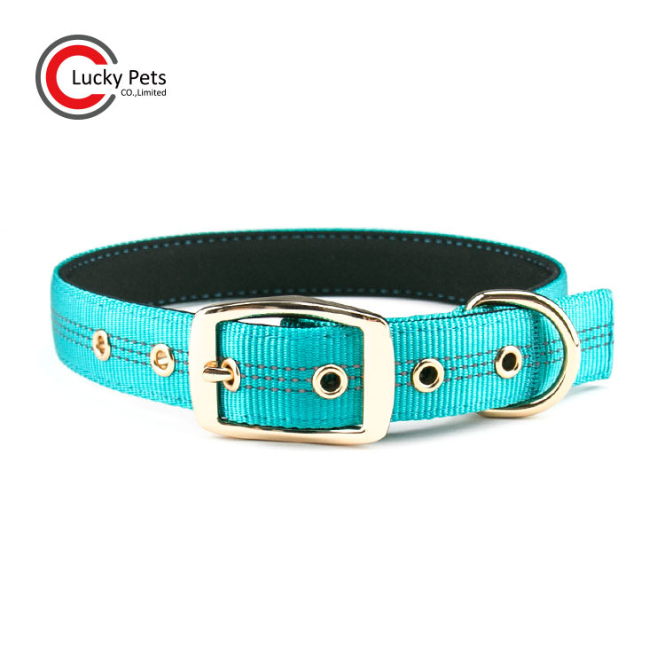 Pet Supplies Outdoor Reflective Thick Pet Collar Nylon Adjustable Dog Neck Ring