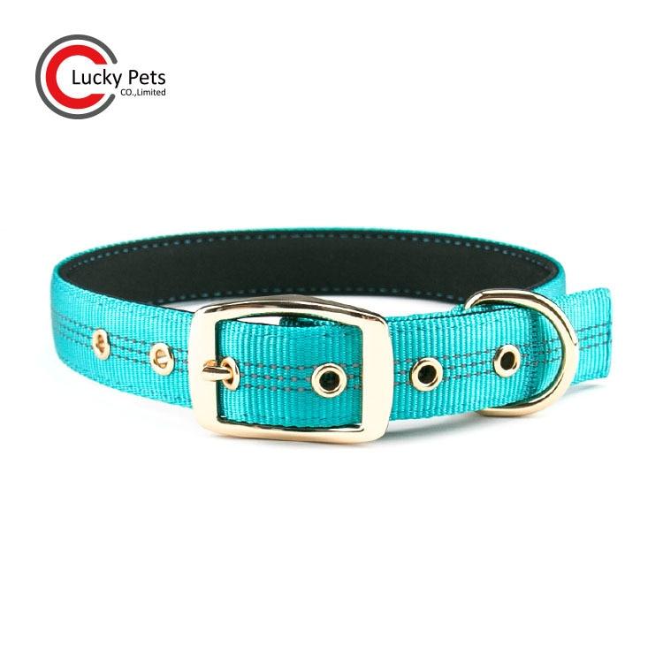 Pet Supplies Outdoor Reflective Thick Pet Collar Nylon Adjustable Dog Neck Ring