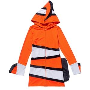 Image 5 - ピエロ魚衣装両親と子供海テーマパーティーコスプレ布幼稚園休日のパフォーマンス衣装