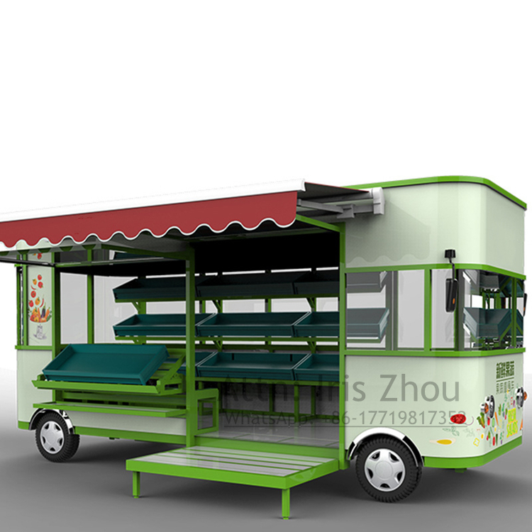 5m Length Electric Food Cart For Fruit & Vegetable, Electric Food Truck For Sale