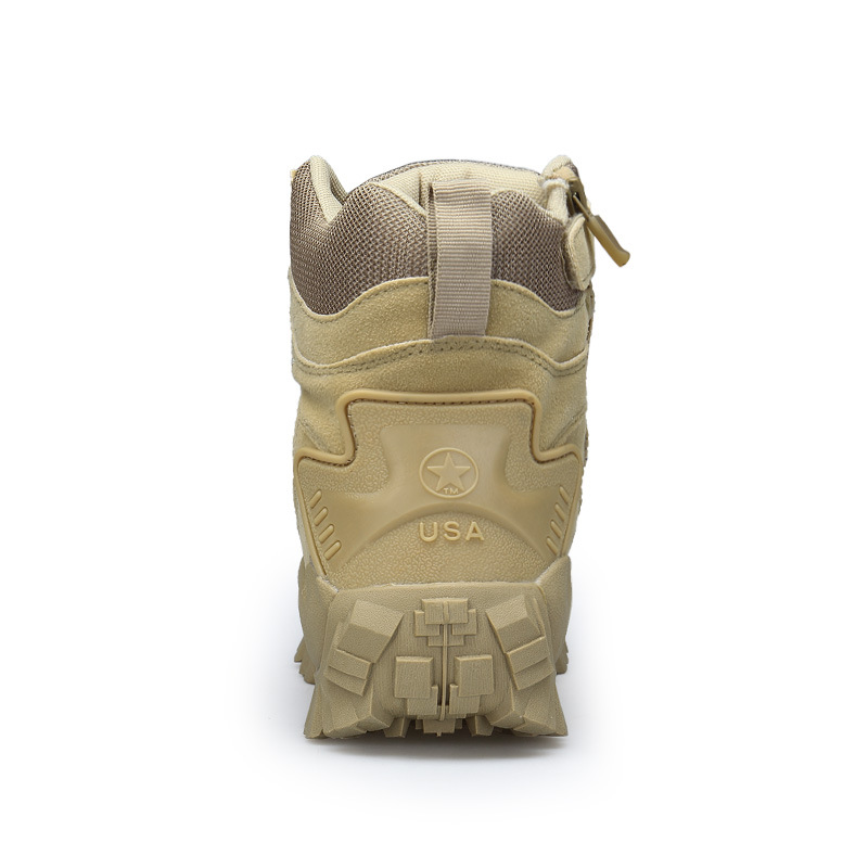 1201 Hight-top Tactical Shoes US Military Delta Tactical Boots Outdoor Plus-sized Sandy Color Training Boots