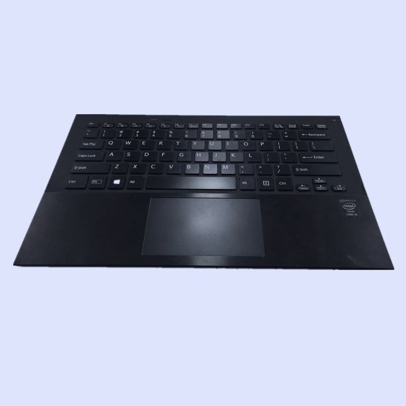 For SONY SVS15 S15 Series Keyboard Palmrest Case with Touchpad Backlit US Silver