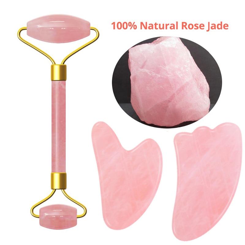 pink-crystal-stone-jade-roller-set-face-lift-massage-roller-facial-slimming-massager-natural-quartz-stone-neck-massage-tool