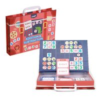 Magnetic Math Puzzle Cards Digital Number Counting Game Kids Early Education Toy