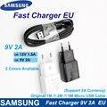 Для samsung быстрое зарядное устройство EU 9V2A настенный адаптер Зарядка Micro USB кабель для samsung Galaxy S6 S7 Edge J3 J5 J7 Note4 5 A3A5 A7 2016