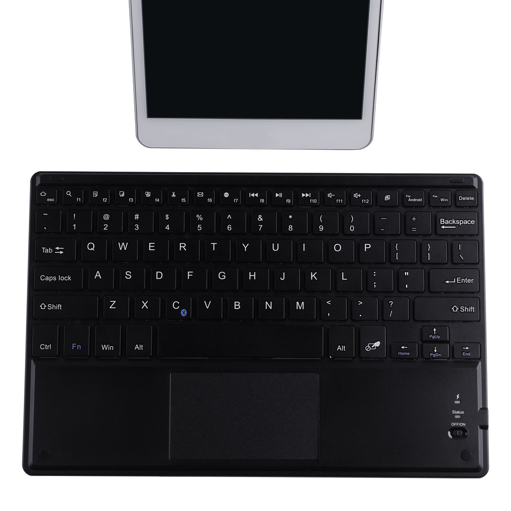 Ouhaobin 10Inch Wireless <font><b>Mini</b></font> Bluetooth3.0 <font><b>Keyboard</b></font> <font><b>Touchpad</b></font> for Android for Windows for Smartphones for Tablets at Home Office image