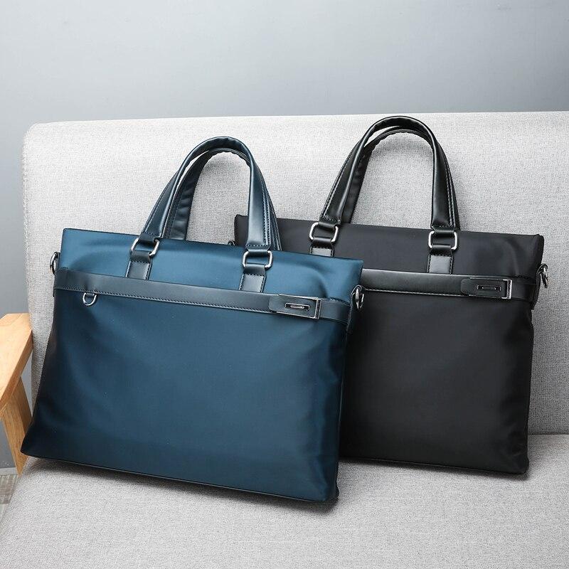 New Fashion Briefcase Unisex Casual Handbag Male Shoulder Cross Body Bag Oxford Water-proof Laptop Bag Big Capacity Travel Bag
