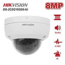 Hikvision 8MP DS-2CD2183G0-IU 4K WDR Build-in Mic Fixed IP POE Dome Network CCTV security Camera H.265 IP66 IR 30m Onvif