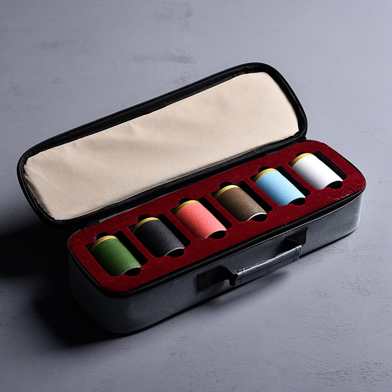 6pcs Small Tea Box Seal Canister Tea Container Tea Tin Can Storage Boxes & Bins Ceramic Jar Tea Caddies Kitchen Accessories