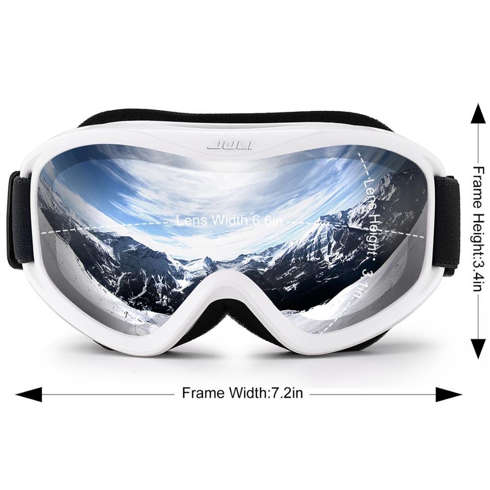 MAXJULI – Lunette de ski professionnelle à lentille double couche antibuée,verres UV400 de marque, de neige, pour homme et femme,