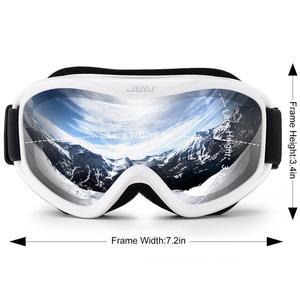 Image 2 - MAXJULI ブランドプロスキーゴーグル二重層レンズ防曇 UV400 スキーメガネ男性の女性の雪ゴーグル