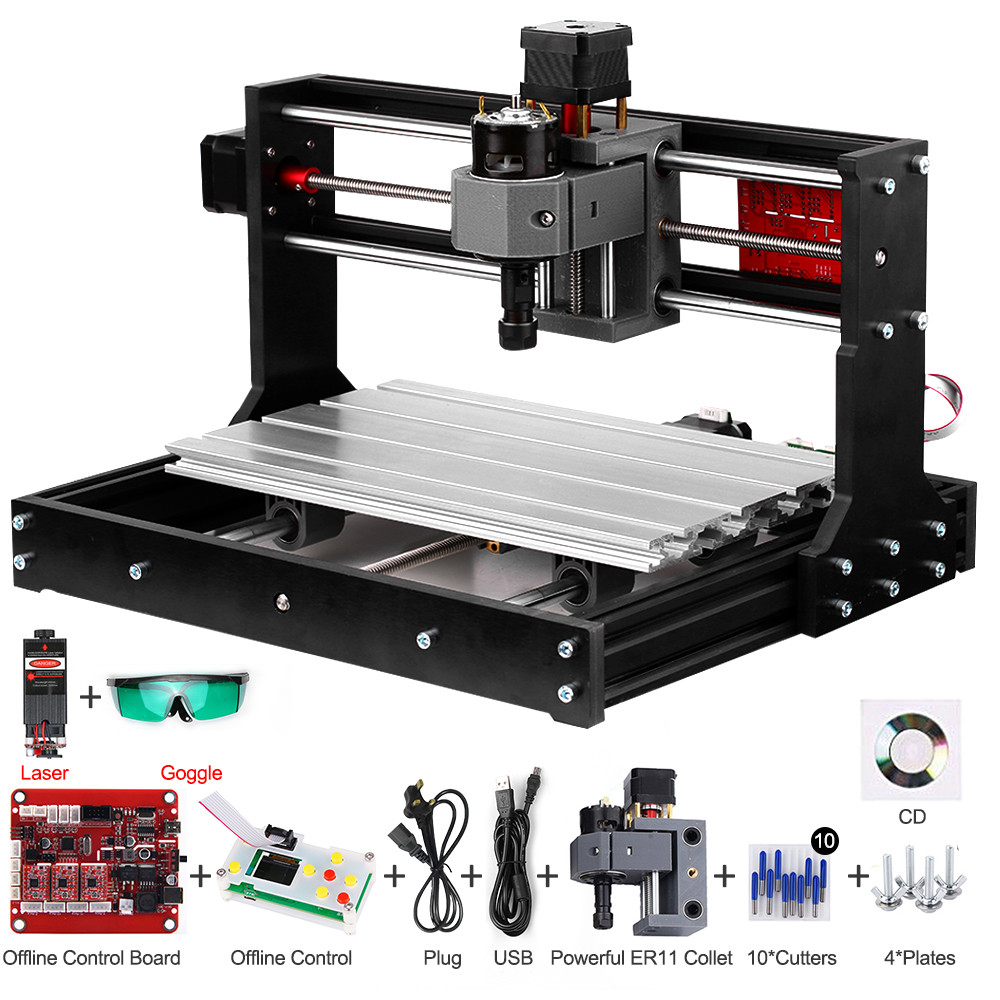 laser engraver CNC Laser Engraver CNC Laser Cutter Engraving Machine Laser Printer DIY 3 Axis Pcb Milling MachineWood Routers   -