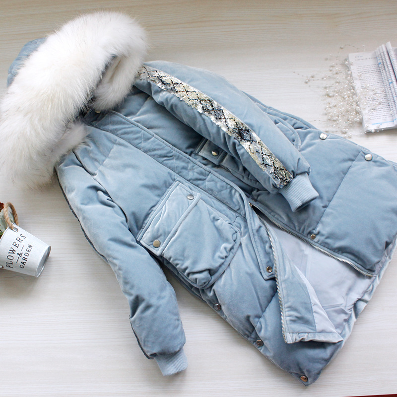 Winter Women's Down Jacket Natural Raccoon Fur Hooded Clothes 2019 Korean Thick Warm Duck Down Coat Female Hiver LW1577