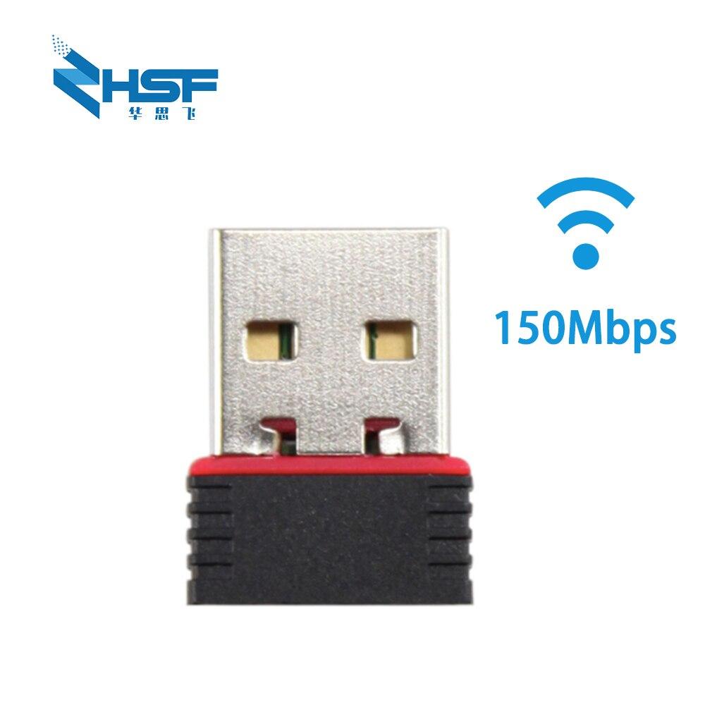 Mini USB Wifi Wireless Network Card 150M Wireless Network Card Wifi Receiver USB 802.11 B / G / N 150M WiFi Adapter For Laptop