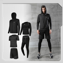 купить Men's Fitness Gym Training sportswear Workout clothes Athletic Workout Suits Running Jogging Sports Dry Fit Clothes онлайн
